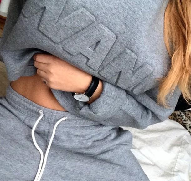 sweater wang alexander wang crop grey