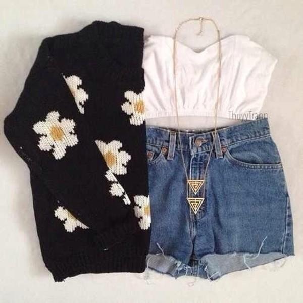 sweater daisy shirt