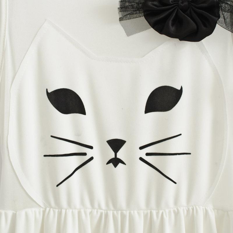 Specials  Korean sweet princess kitty bow waist vest dress  women's sleeveless  plus size tank dress white one piece cat dress-inDresses from Apparel & Accessories on Aliexpress.com