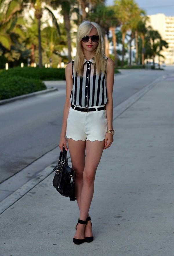 vogue haus blouse shorts belt shoes bag sunglasses jewels