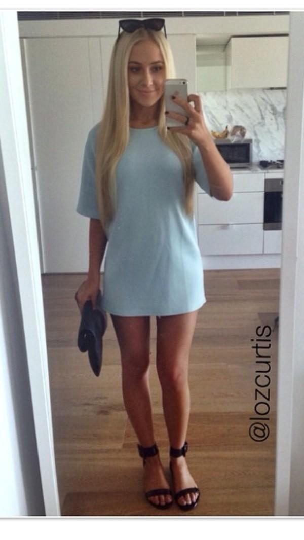 dress blue dress lauren curtis