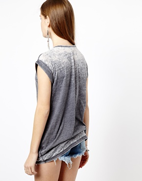 New Look | New Look Boyfriend Burnout Tee at ASOS