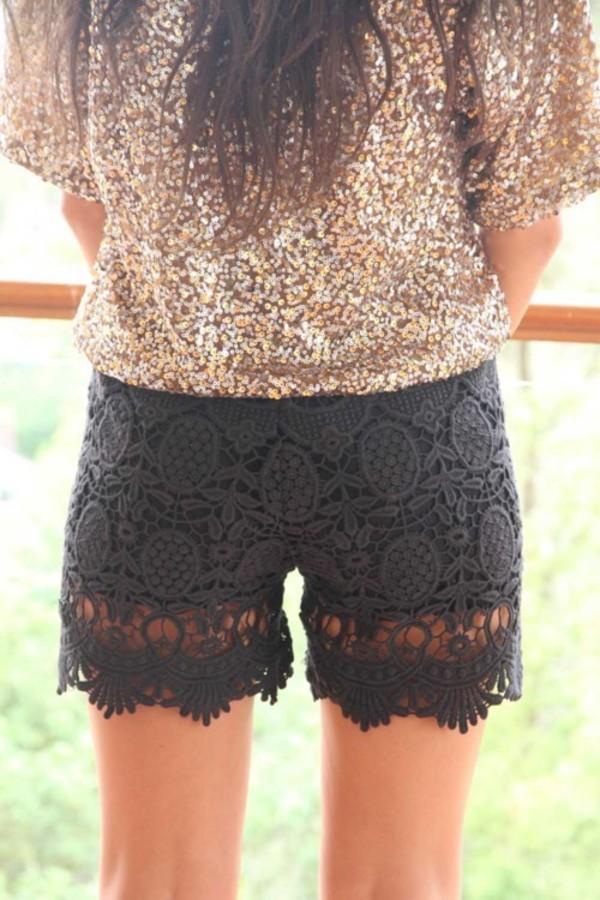 shorts lace shorts shirt