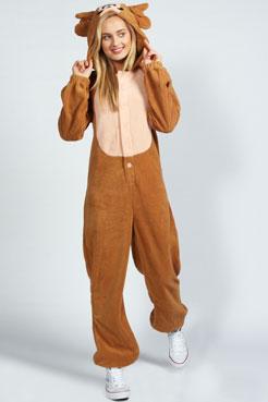 Delia Deer Animal Onesie at boohoo.com