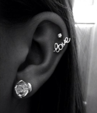 jewels earrings love lovely jewelry frantic jewelry silver silver earrings ear cuff