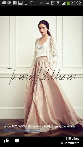 cardigan bridal skirt jenny packham