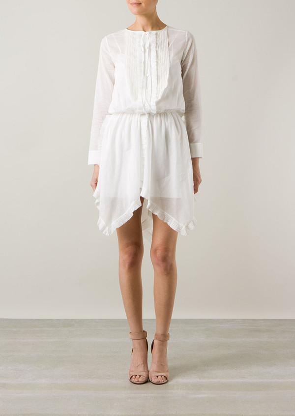 dress nina ricci white shirt-dress