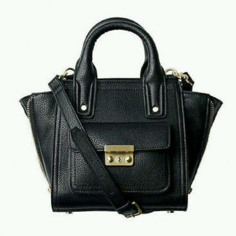 Philip Lim Target Black Mini Satchel Pashli Handbag Crossbody | eBay