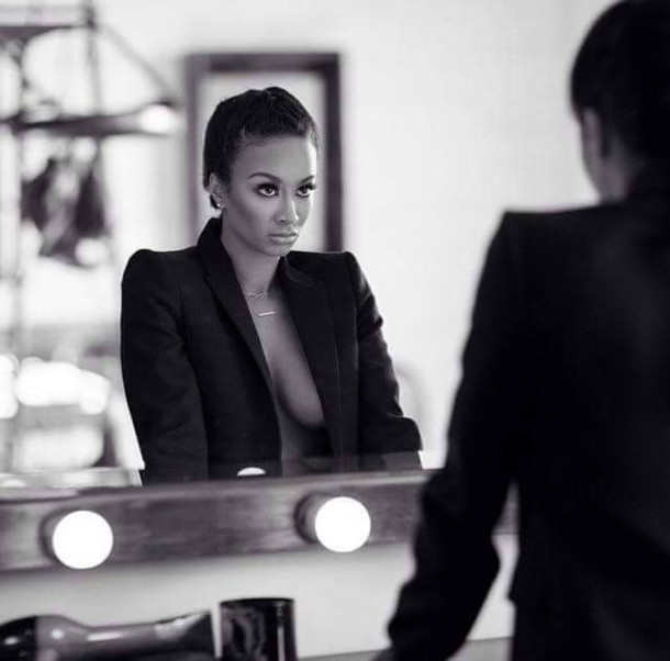 draya michele draya michele make-up blazer cardigan