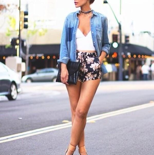 top summer blouse shorts