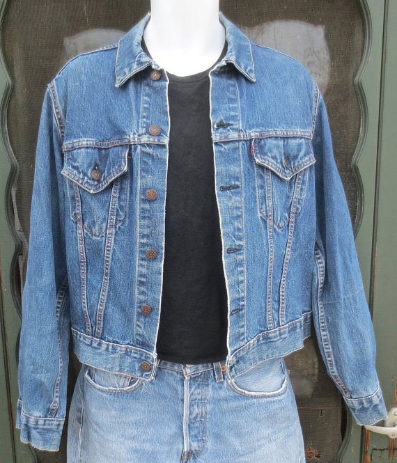 Vintage BIG E Levis  Denim Jacket Levi Strauss by delilahsdeluxe