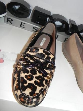 shoes moccasins leopard print