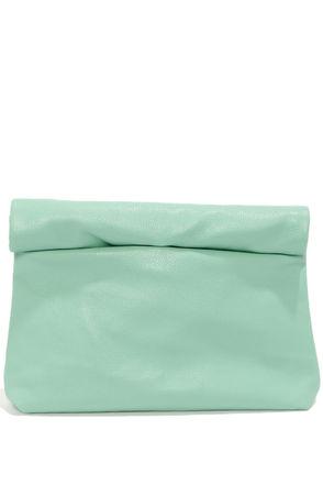 Cute Mint Green Clutch - Vegan Leather Clutch - Mint Green Purse - $29.00