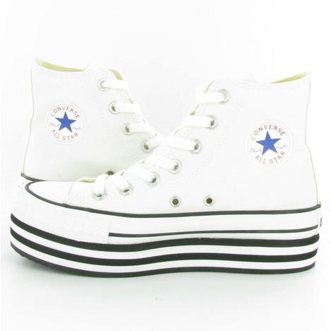 Converse Allstar Platform Hi Wedge Shoes in White