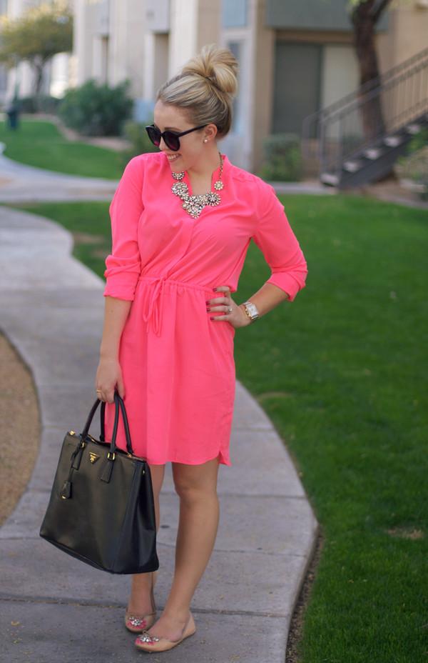 a beautiful heart dress shoes bag sunglasses jewels pink dress gap zara shoes prada bag streetwear