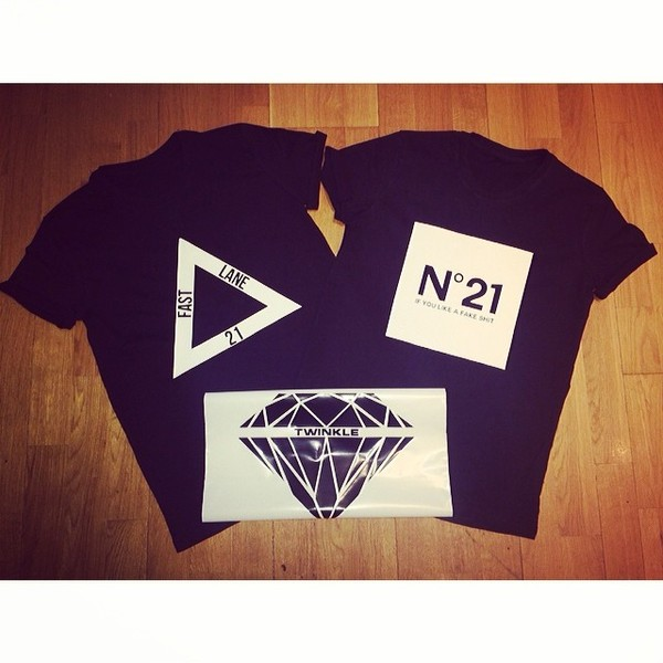 t-shirt trap 21 chanel inspired twinkle black blvck diamonds