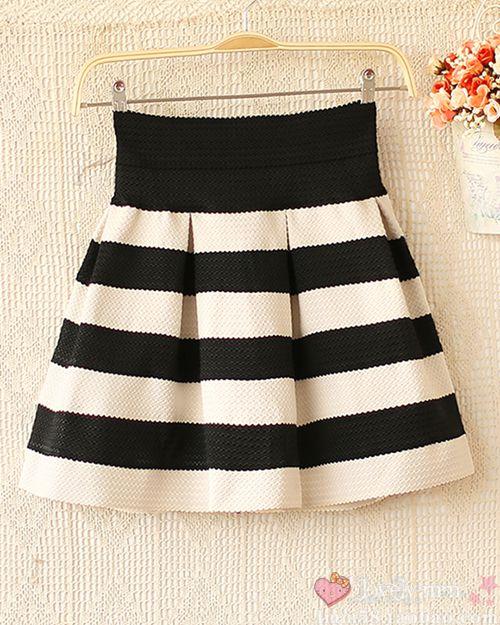 Sweety Womens Girls Mini Dress Retro Flared Black and White Stripe Skirt Sales   eBay