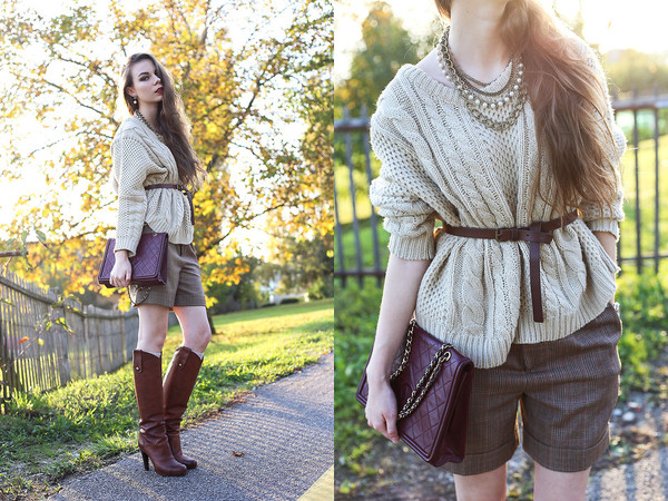sweater romwe knit cream