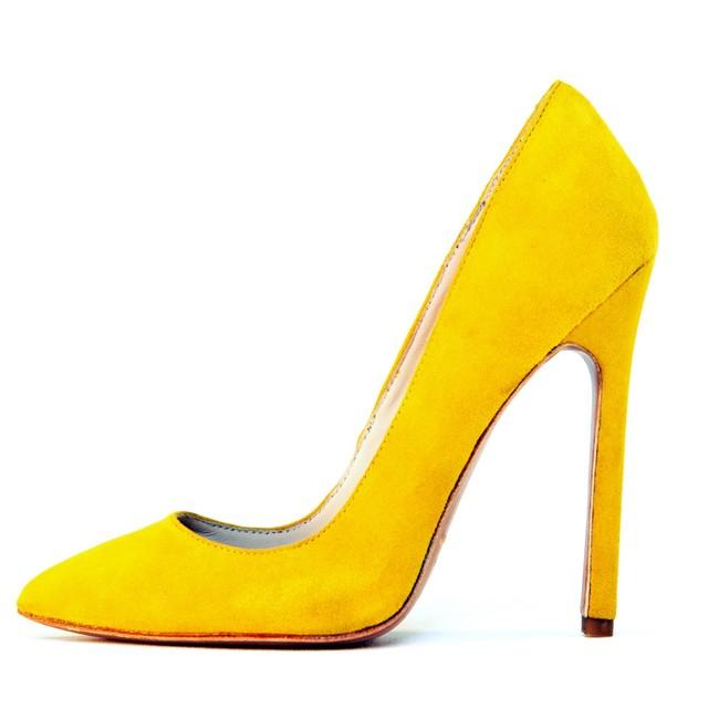 Gilda Mustard Suede - LAUREN MARINIS