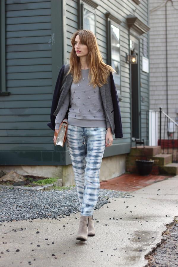 jess style rules pants sweater jacket shoes bag