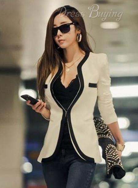 Premier Korean Slim Assorted Colors Casual Blazer 10686854 - Dressbuying.com