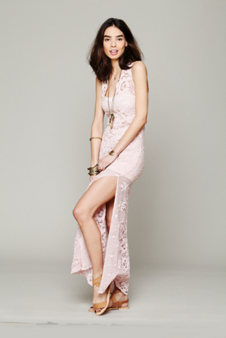 miguelina womens on the eve lace column dress