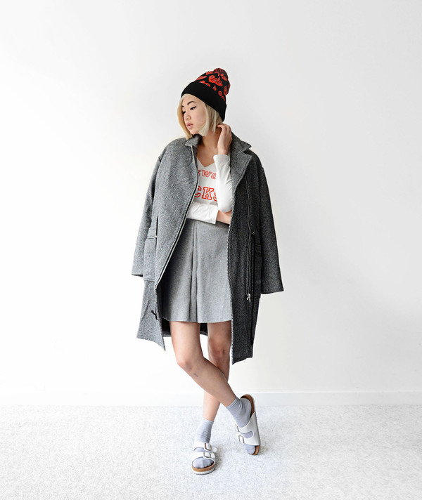 ordinary people jacket shirt skirt shoes