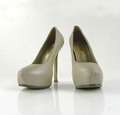 2011 latest sheepskin summer cream  high heel shoes wholesale/retail-in Pumps from Shoes on Aliexpress.com