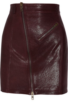 Leather mini skirt | McQ Alexander McQueen | 50% off | THE OUTNET