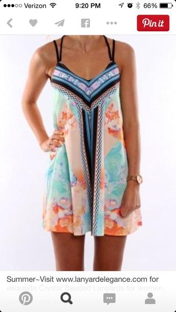 dress colorful summer dress
