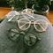 Circle frame vintage soft glasses