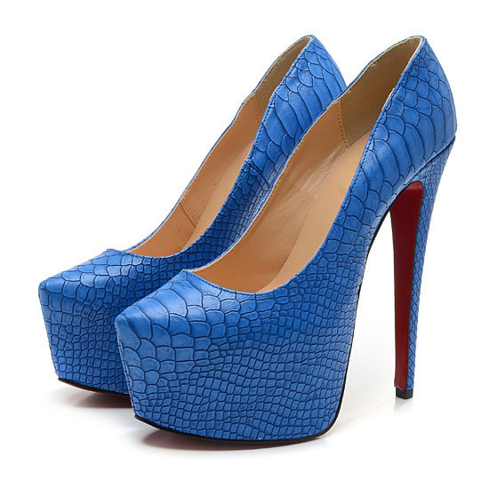 Designer Girl Shoes Snake Red Bottom High Heel Shoes Women Stylish Dresses Pumps Light Blue Platforms-in Pumps from Shoes on Aliexpress.com