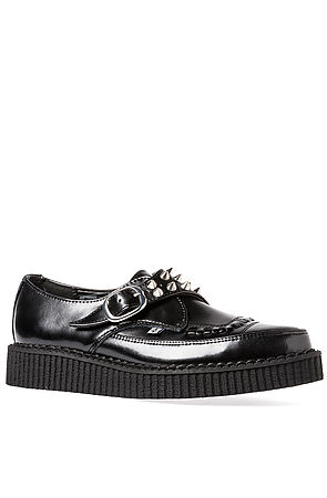 TUK Creeper Pointed Toe Leather Black -  Karmaloop.com
