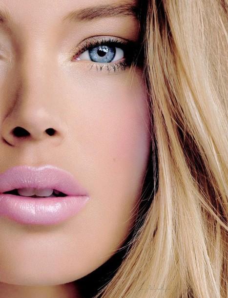 make-up light pink lipstick pink lipstick hair/makeup inspo summer beauty