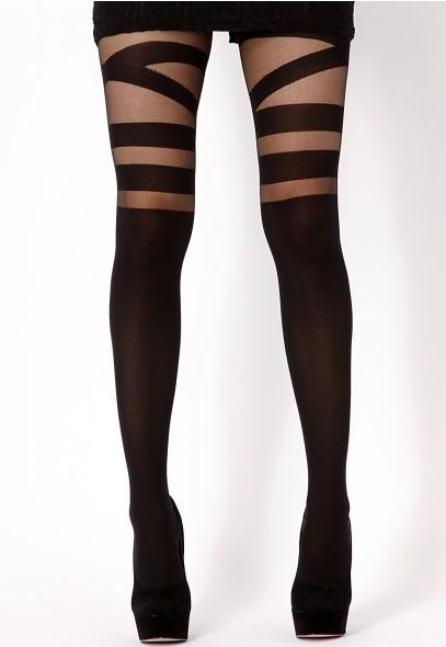 Leea V Strap Tights - leggings & hoisery - missguided