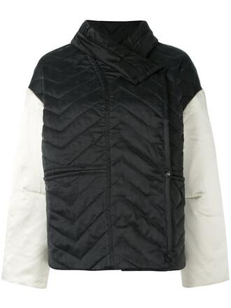 jacket women quilted cotton black silk