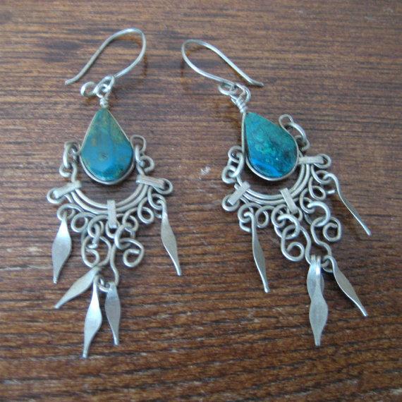 vintage Silver Earring / Tibetan Jewelry / by AliyaAndLucas
