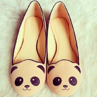 shoes panda ivory cute ballet flats cream black lovely flats sweet girly panda shoes beige shoes pandas printed beige dress bamboo babeth panda babeth nude bamboo shoes cute face  cat panda flats koala bear panda bear cute shoes bear shoes teddy bear flats slip on shoes kawaii shoes black and white white shoes black shoes black and white shoes style fashion love kawaii pandaflats hipster tumblr sophisticated