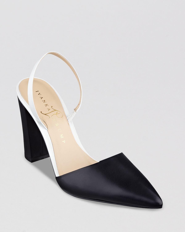 IVANKA TRUMP Pointed Toe Pumps - Cami Slingback High Heel | Bloomingdale's