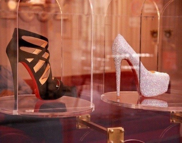 shoes heel heels high heels glitter sparkely sparkels black red luxury