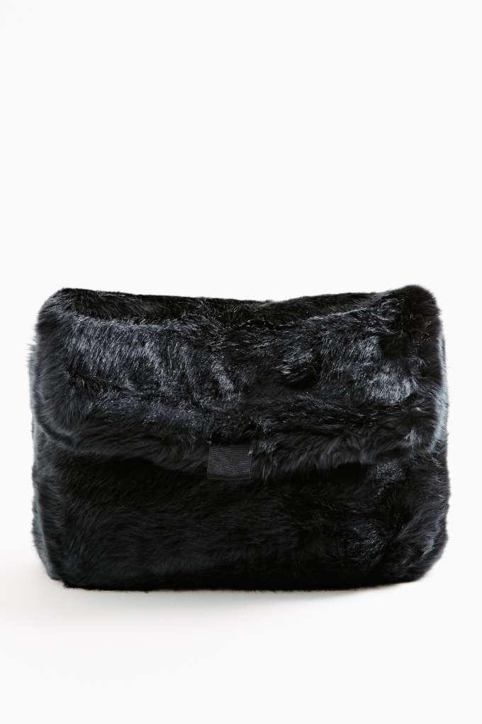 Veronika Faux Fur Clutch in  Accessories Bags at Nasty Gal