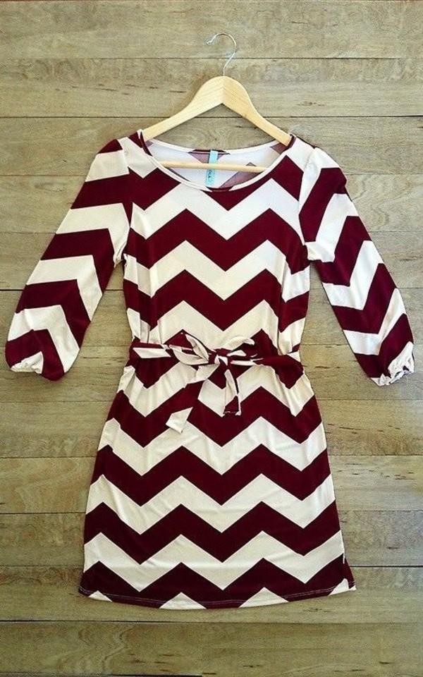 dress red white chevron clothes chevron dresses