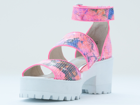 How Two Live X Windsor Smith Flounce in Pink at Solestruck.com