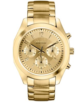 Caravelle New York by Bulova Women's Chronograph Rose Gold-Tone Stainless Steel Bracelet Watch 36mm 44L115 - Watches - Jewelry & Watches - Macy's