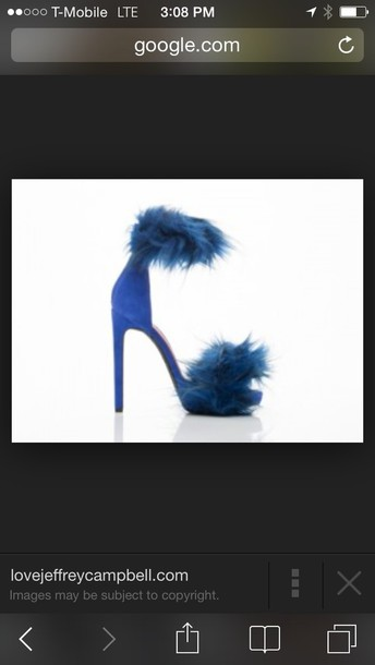 shoes strapon heels with fur strap