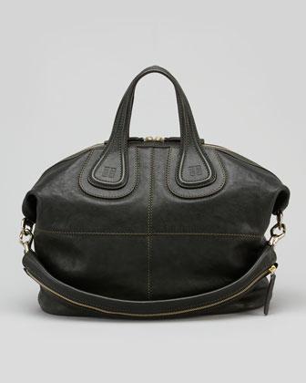 Givenchy Nightingale Zanzi Medium Satchel Bag, Green - Bergdorf Goodman