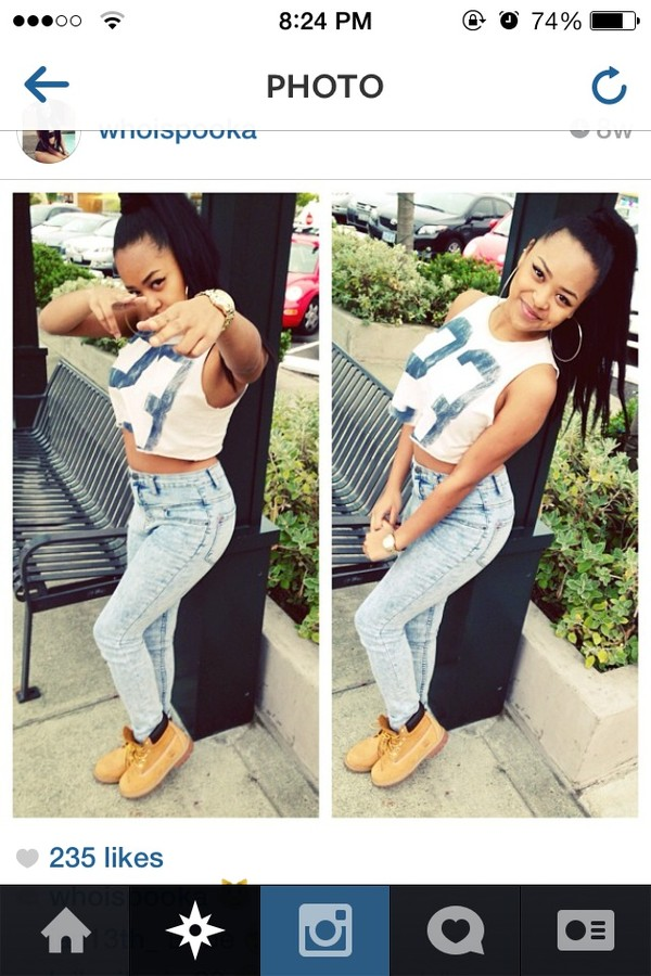 shoes timberlands whoispooka instagram pretty style jeans