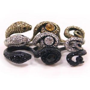 SK253 Cubic Snake Free Ring Swarovski Crystal Free Gifts Tracking Number   eBay