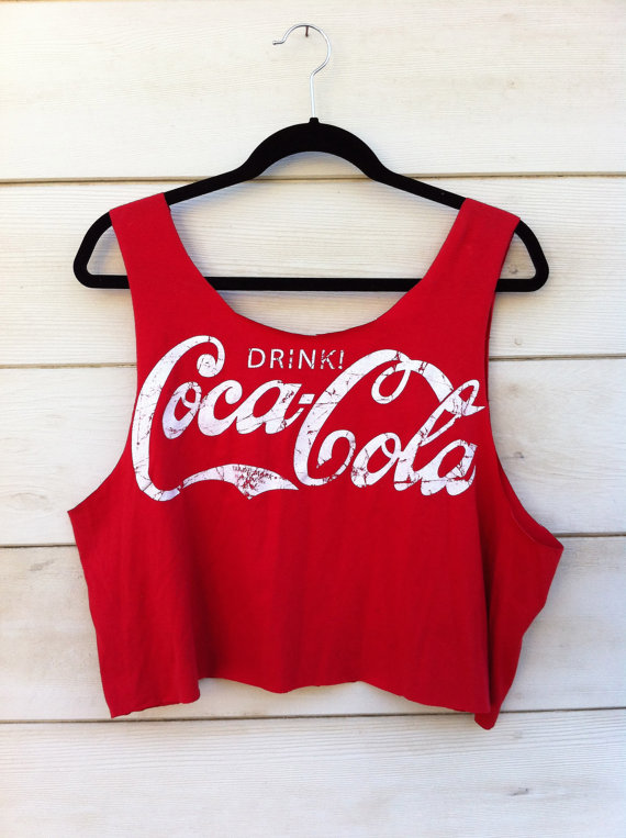 Vintage Coca Cola Cut Off Tank by ClosetCreep on Etsy