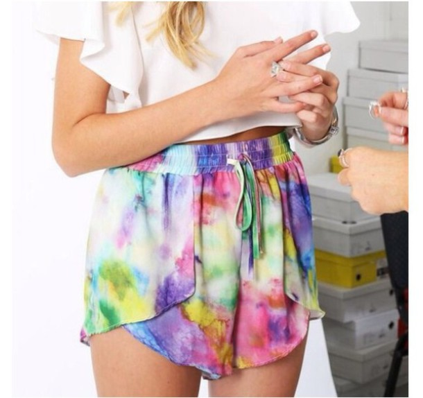 shorts colorful